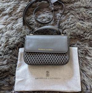 Brunello Cucinelli Leather Crossbody Bag.